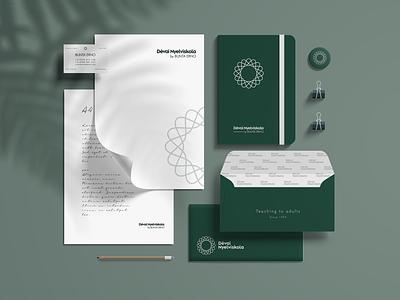 Branding & Identity stationary design business card typography logo language school logo design branding