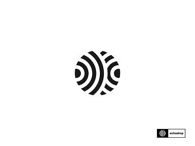 Echodrop logo exploration. logomark logotype logo designer illustration mark symbol minimal sound echodrop record label music visual identity identity branding graphic design logo design logo