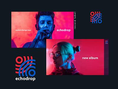 Echodrop branding & identity record label festival music sound branding and identity graphic design logomark logotype brand branding visual identity logo design logo