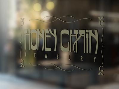 Honey Chain Jewelry window signage