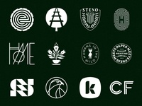 S&D Greatest Hits Vol. 1 2013 - 2020 geometric typography philadelphia visual identity branding logolounge icons badges marks