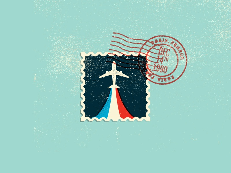 Keep the change, ya filthy animal! plane france stamp flag paris vector texture mail