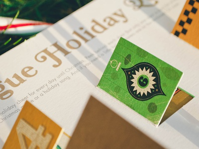 A Vague Christmas Dribbble christmas card illustration decorations die-cut advent calendar spot gold