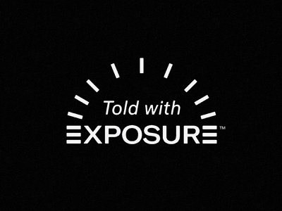 Told with Exposure geometric kodak polaroid vintage branding brand identity logo philadelphia atlanta storytelling photography camera exposure