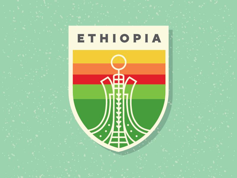 Ethiopia Shield skate or die ethiopia martyrs monument shield vector illustration