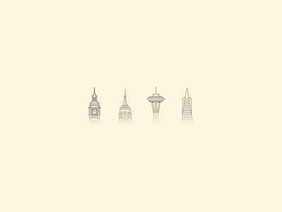 I'm so faded buildings fog drake architecture big ben empire state building space needle vector faded