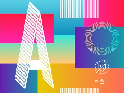 OMGRADIENTS gradient typography eye tribute shield