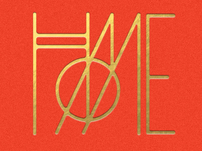 HOME home monogram typography geometric