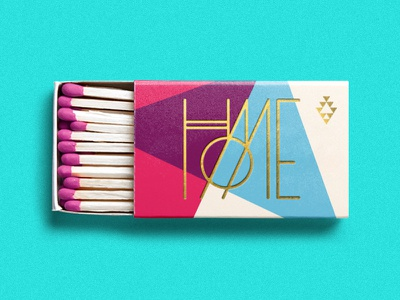 Burn it all down home monogram typography geometric matches killed