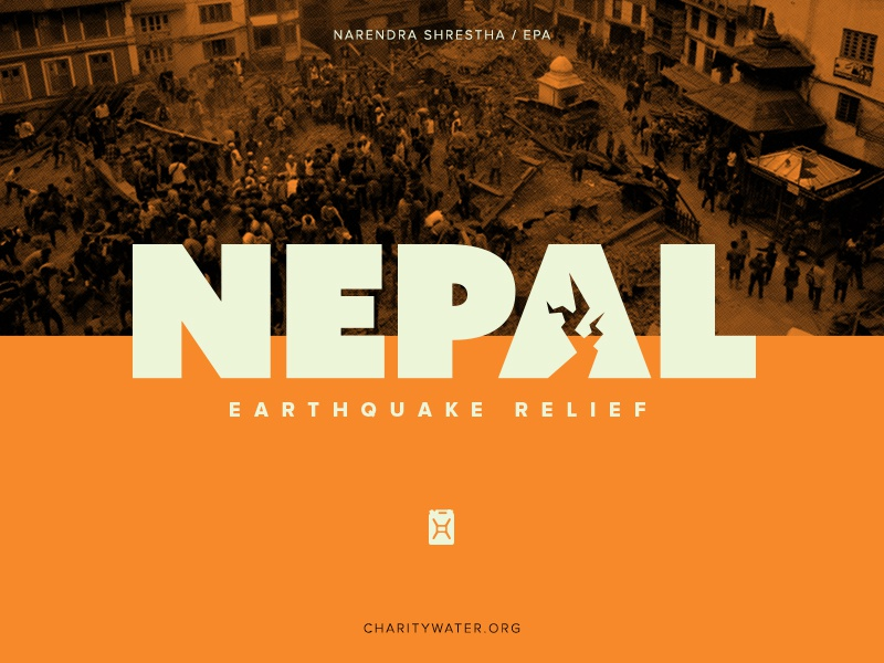 Yesterday, a disaster on the other side of the planet hit home. nepal disaster earthquake logo charity water relief nonprofit
