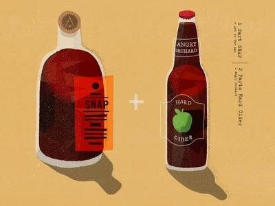 Snap and Cider texture alcohol illustration hard cider art in the age snap