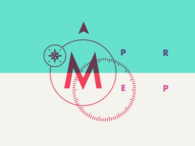Deconstructed Direction arrow direction logo tutoring prep compass