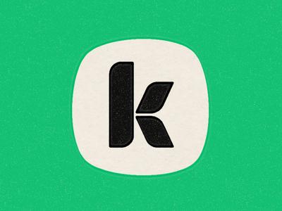 Kindness is so retro retro typography logo identity kindness k