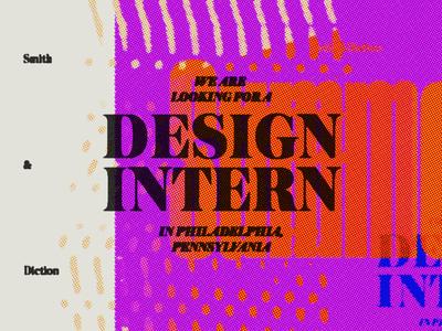 Summer Design Intern Wanted branding philadelphia design intern