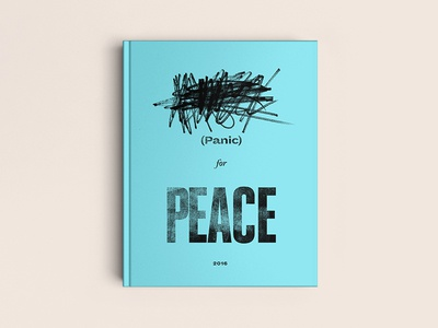 Panic for Peace. typography 100daysofbooktitles scribble book cover editorial