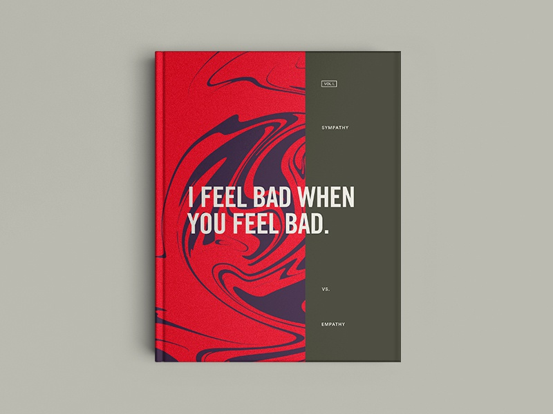 I feel bad when you feel bad. typography book cover editorial 100daysofbooktitles