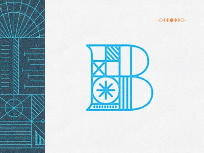 A B mono weight illustration geometric typography