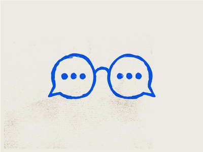 Chat Glasses sketch icon tutoring illustration glasses chat bubble