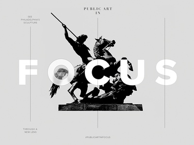 F O C U S photography philadelphia sculpture typography
