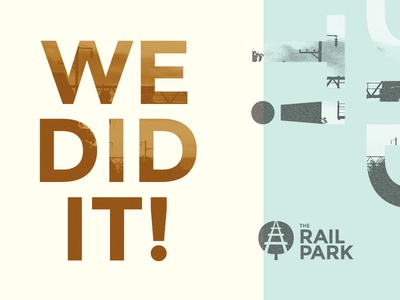 We did it! The Rail Park is happening. branding identity philly park the rail park