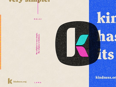Kindness can be anything. Kindness can be everything. texture geometric mid-century identity branding kindness