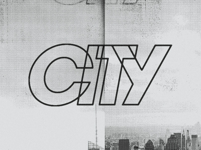 Reppin italic typography city