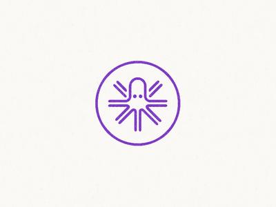 Octowheel star logo identity icon wheel octopus taxes transportation