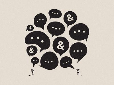 Collaboration teamwork conversation speech bubble venture capital human illustration collaboration values