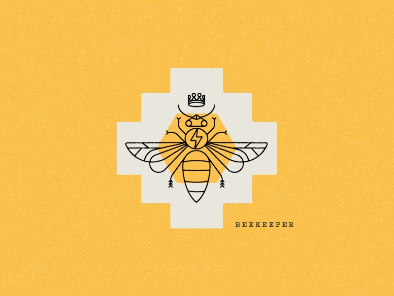 Beekeeper honeycomb honey flavor packaging coffee illustration beekeeper bee