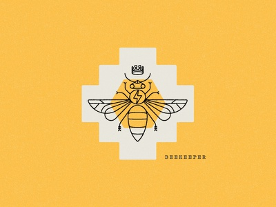 Beekeeper honeycomb honey flavor packaging coffee illustration beekeeper bee