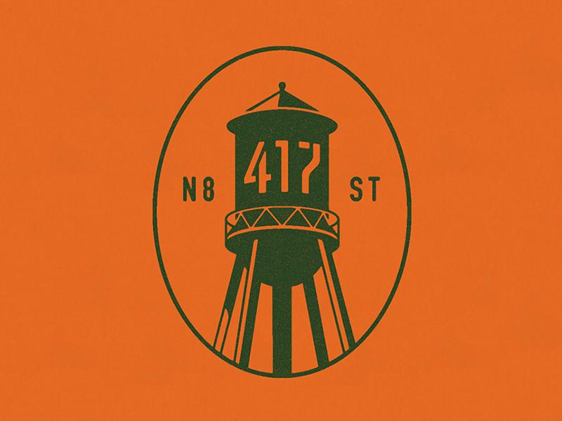 417 Water Tower Logo identity logo wayfinding philadelphia illustrator icon water tower