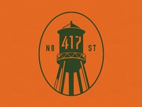 417 Water Tower Logo
