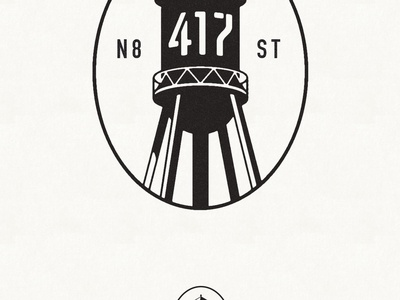 417 Water Tower Logo identity logo wayfinding philadelphia illustrator icon water tower