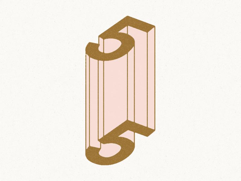 5 ≈ 5 5 philadelphia wayfinding optical illusion typography