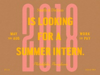 ✐ Seeking Summer Intern ✐
