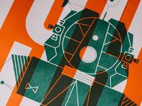 Lander print detail