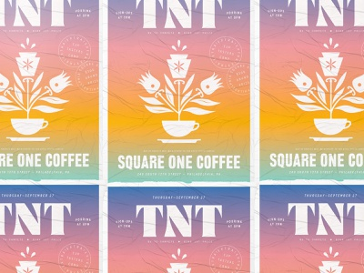 TNT keystone lancaster hex sign coffee nashville typography poster