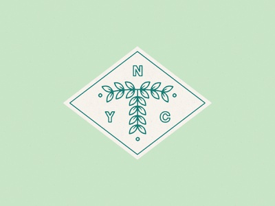 NYC + T identity branding tree logo tree plant nyc illustration typography