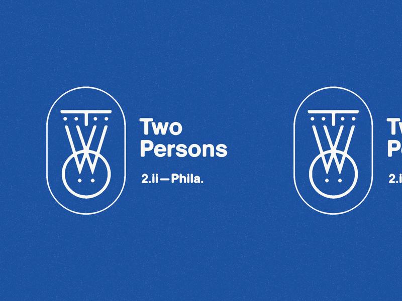 TWO (2.ii—Phila.) geometric coffee shop icon helvetica type two icon artwork identity branding identity monogram iconography philadelphia two persons coffee