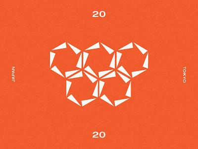 Olympics 2020 icon japan tokyo logo branding identity geometric olympics