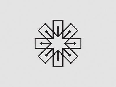 ☆★ negative space logo star fountain pen identity branding logo