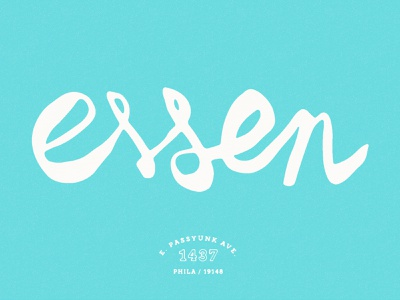 Essen Script logo bakery wonky philadelphia typogaphy script identity branding essen