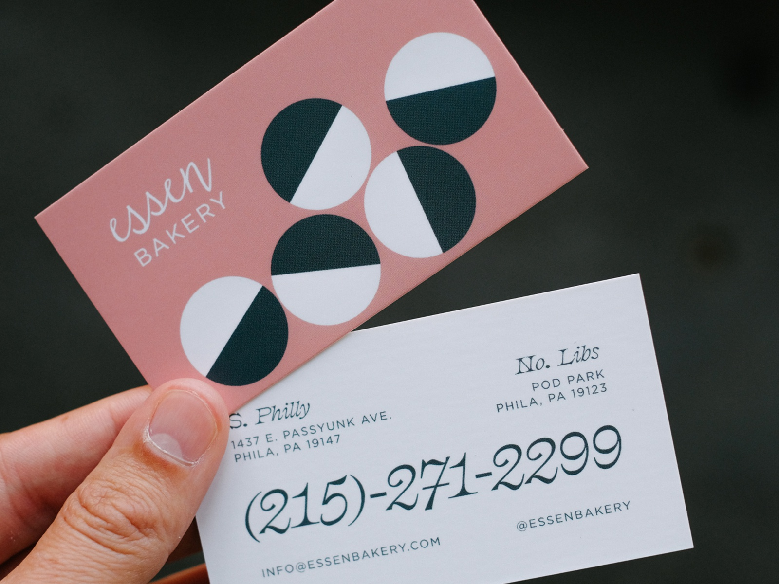 Essen business card dribbble