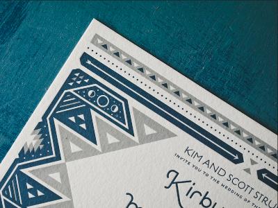 My Best Friend's Wedding wedding invite moons letterpress native american