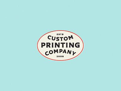 Custom Printing Co. printer identity retro vintage philadelphia typography