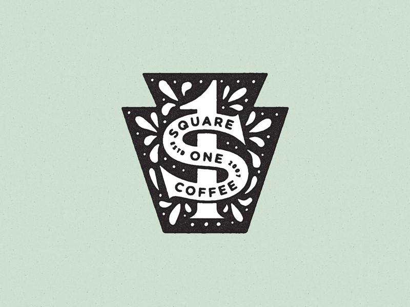 Square One Coffee Keystone hex sign keystone geometric icon logo identity branding texture vector illustration typography philadelphia pennsylvania
