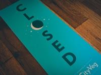 HipCityVeg Closed Sign