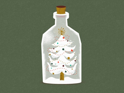 Seventh Annual Holiday Hangs christmas party bottle christmas tree holiday mid-century vintage illustration