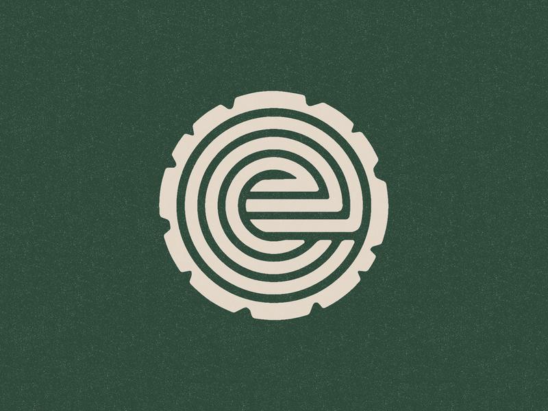 Elm Logo modern logo identity modern tree rings nature logo geometric illustration branding visual identity icon philadelphia elm tree logo