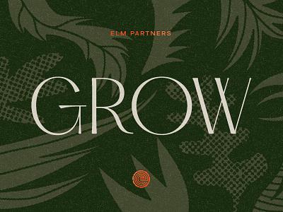 GROW vintage geometric logo branding philadelphia vector typography garden illustration finance growth